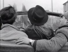 Anna Karina,Sami Frey,Claude Brasseur:  Bande à part 1964 Jean-Luc Godard