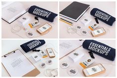 """16 Essentials Mockups Pack / 16 PSD This package contains 16 amazing scenes composed by original pieces to show your personal work or your customers, on the web there is an infinite number of """"Branding Mockups"""" packages but none so original as this, if you are a designer or freelance definitely this is the package you need to highlight your work. #mockup #mockupiphone, #mockupsiphone #mockups #iphone6mockups, #iphone6psd #iphone6psdmockups"""