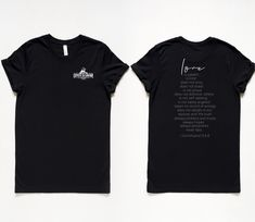 LOVE Scripture Two-Sided Unisex Tee - Black / S