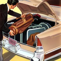 Plan59 :: Classic Car Art :: 1955 Packard 400. Ah...when we had trunks instead of SUV's...