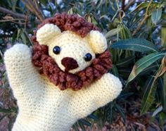 crochet lion, figured you could just use a pattern for a teddy bear and go from there