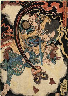 Kuniyoshi | The White Monkey