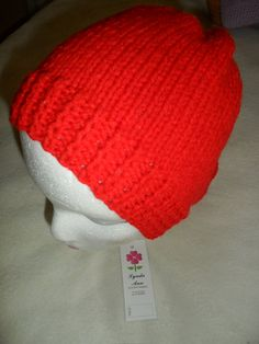 Hand Knitted Woollen  Beanie Hats in various by Craftsbylindyloo