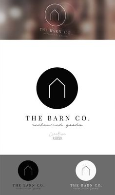 Simple Barn Logo. Modern Logo Design. Etsy Shop by CreativeKiosk