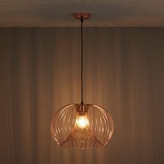 Jonas Wire Copper Pendant Ceiling Light | Departments | DIY at B&Q