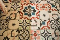 love the tile for a splash of color