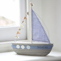 """Sailing Day"" Fabric Bunting Boat"