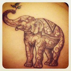 My elephant tattoo to celebrate my lifestyle change! | The Little Red Journal | #vegan #tattoo #elephant