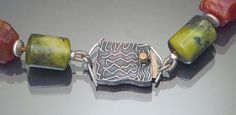 Carla M. Fox Etched Box Clasp.. I love her work. I have a few pairs of her earrings and the work is amazing!