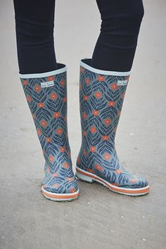Tall Printed Wellies  #SeasaltComfortAndJoy