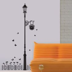 Easy Instant Home Decor Wall Sticker Decal - Underneath the Street Lamp - Amazon.com
