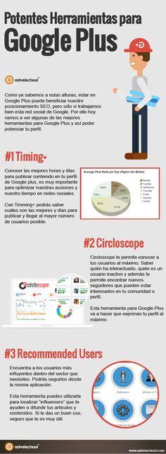 Las mejores herramientas para Google Plus #infografia