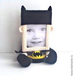 """Купить Фоторамка """"Бэтмен"""" - супергерой, фоторамка, рамка для фото, герои мультфильмов, мужчине, подарок мужу"""
