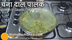 Palak Chana Dal recipe - Spinach Gram dal curry -