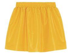 Mini-jupe jaune en taffetas évasée redvalentino