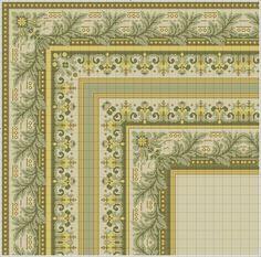 Gallery.ru / Фото #108 - μετρητα 4 - ergoxeiro Cross Stitch Borders, Cross Stitch Patterns, Leaf Stencil, Bargello, Diy Projects To Try, Needlepoint, Needlework, Carpet, Blue And White