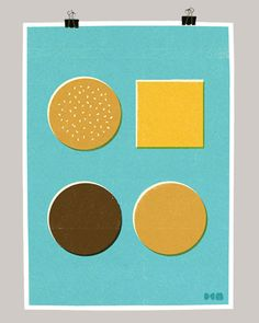 deconstructed cheeseburger by Dale Edwin Murray via designworklife