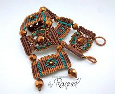 I could see one section as a focal on a necklace.   MicroMacrame TUTORIAL Bracelet Steps by RaquelsBeaDesigns on Etsy