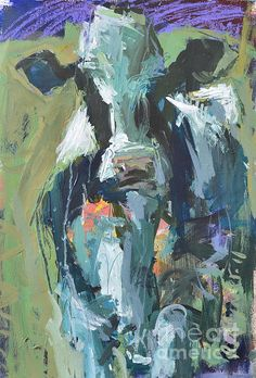 Abstract Cow Painting Painting