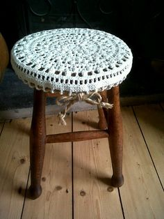 gorgeous stool crochet cover