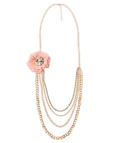 Chiffon Rosette Swag Necklace | FOREVER21 - 1000047221