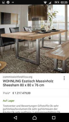 Esstisch Akazie Massiv Esszimmertisch Tisch Designertisch Holztisch Wohnzimmer