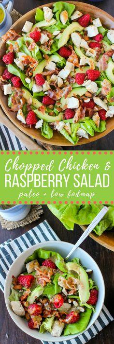 Chicken Avocado & Raspberry Salad