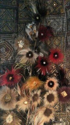 assortiment de 12 motifs en fourrure de renard ,vison et plumes : Déco, Customisation Textile par claudeplume