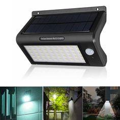 53 LED Solar Powered PIR Motion Sensor Light Control Wall Lamp Waterproof Security Light for Garden