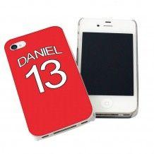 Personalised Manchester United Style Shirt iPhone Case