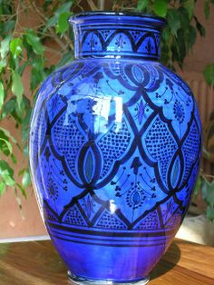 Recreate the wonderful look of the Marjorelle gardens with our stunning Vase. http://www.maroque.co.uk/showitem.aspx?id=ENT01040&p=00424&n=all
