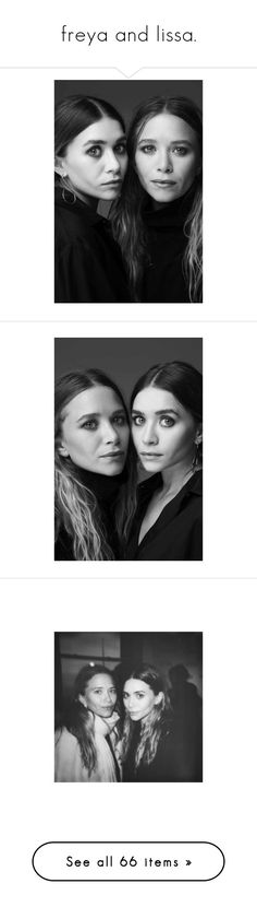 """freya and lissa."" by p-xradox ❤ liked on Polyvore featuring models, people, backgrounds, olsen, photos, pictures, olsen twins, celebs, images and celeb"