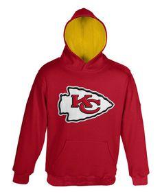 03c713fbcea Kansas City Chiefs Logo Fleece Hoodie - Boys  zulily  zulilyfinds Kansas  City Chiefs Apparel