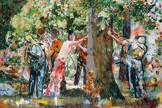 Daniel Richter, Tuanus, 2000. Oil on canvas.