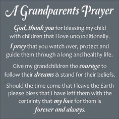 Happy Grandparents Day Wishes: Grandparents are a lot of fun, wise, generous, loving, and supportive. Get help thinking of what to write to your grandparents wi Grandson Quotes, Quotes About Grandchildren, Grandkids Quotes, Prayer Board, My Prayer, Prayer Verses, Bible Prayers, Prayer Room, Family Quotes