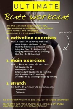 Similar to the workout I'm starting up next week. If my ass looks like that in the end, I'll post a pic on pinterest too lol