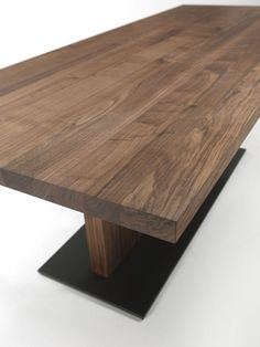 Riva 1920, made in Italy: Liam Wood table, project by C.R. & S. Riva., solid wood.