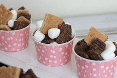 S'More Snackin' Recipe - Fiber One® 80 Calories Chocolate cereal - 1 cup mini marshmallows - 6 graham crackers cut into pieces