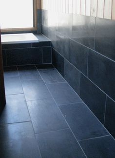 Chinese Black slate - honed at Silvermere Guesthouse, Blue Mountains
