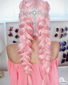 #fashion #hairstyle #прически #прическисцветами #необычныепрически #цветы #идеипричесок #украшения#розовыйцвет#омбре#2018