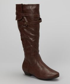 Take a look at this Brown Teresa Boot on zulily today!