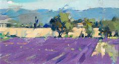 Lavender © Maggie Siner Landscape Sketch, Landscape Art, Landscape Paintings, Purple Art, California Art, Impressionist Paintings, Art For Art Sake, Art Oil, Painting Inspiration