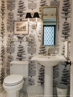 Circa Lighting French Double Sconce powder room