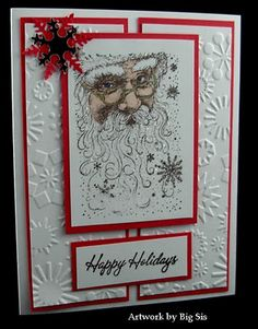 Have to try drawing that Santa and his lovely beard. Maybe use those water color pencils.