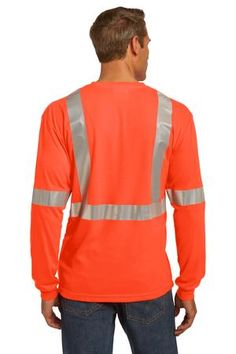 Buy the CornerStone - ANSI 107 Class 2 Long Sleeve Safety T-Shirt Style CS401LS