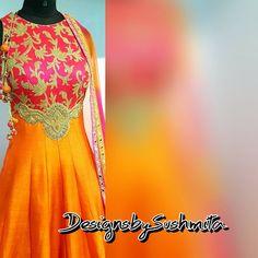On Wednesdays we wear pink ❤ , beautiful pink anarkali made in pure royal silk. #designsbysushmita #couture #pret #weddingdress #wedding #ootn #ootd #fashionideas #fashionblogger #indiandesigner #indianfashion #indiancouture #embroidery #simicouturepret #styleguide #indiandress #madetoorder #bespoke  #bespokeclothing