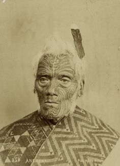 Pulman & Son-Portrait of Maori Chief Anehana Maori People, Tribal People, Haka New Zealand, Ta Moko Tattoo, Maori Art, Monochrome Photography, People Of The World, First Nations, Historical Photos