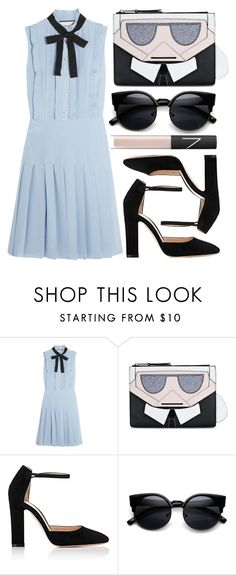 """""""street style"""" by sisaez ❤ liked on Polyvore featuring Gucci, Karl Lagerfeld, Gianvito Rossi and NARS Cosmetics"""