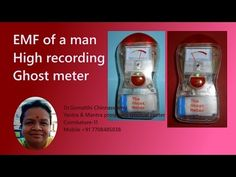 Ghost meter, EMF reader to find out the vibration of a man