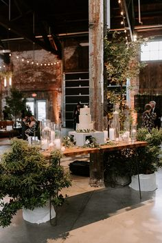 Maine Wedding Planner, Designer and Coordinator, DAISIES & PEARLS creates a lost garden in the industrial beauty of Brick South. Wedding Art, Wedding Themes, Wedding Decorations, Wedding Ideas, Wedding Pins, Wedding Inspiration, Loft Wedding Reception, Warehouse Wedding, Industrial Wedding Venues
